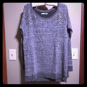 Maurices Soft Knit Sweatshirt w/ Crystals Sequins